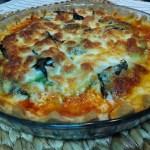 Pizza de pollo y aguacate