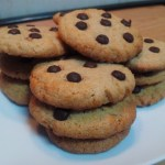 Galletas crujientes con pepitas de chocolate