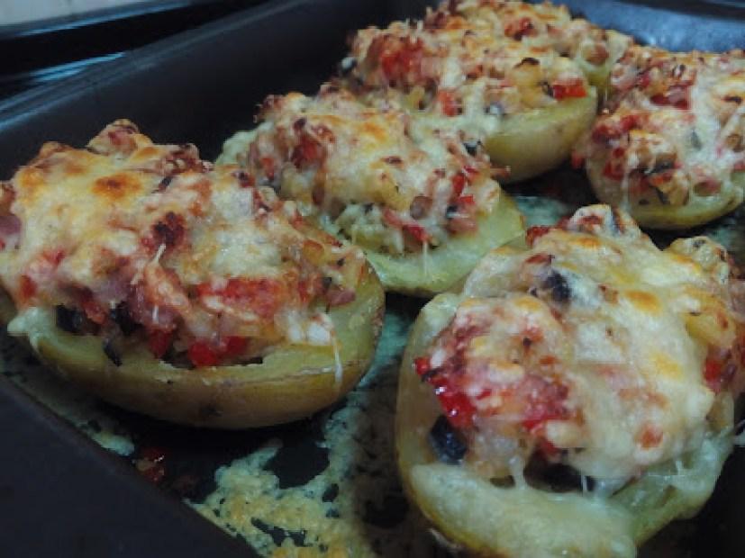 patatas rellenas gratinadas, recetas fáciles con patatas