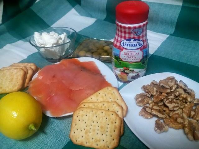 ingredientes pastel frío de salmón