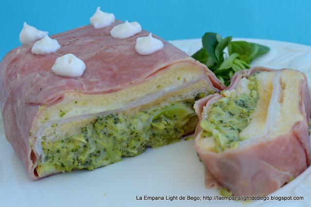 pastel frío de brócoli