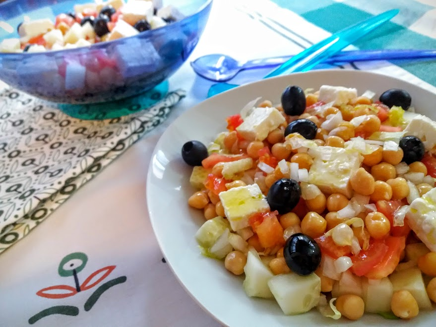 ensalada de garbanzos griega