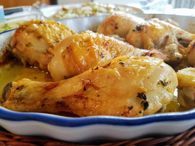 muslitos de pollo asado con aliño