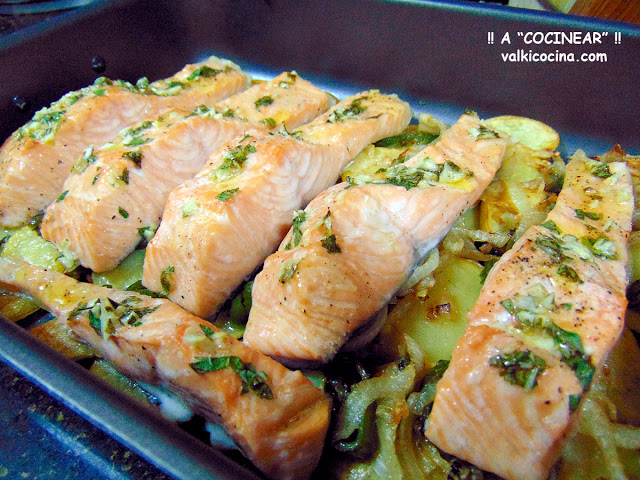 menú semanal salmón al horno