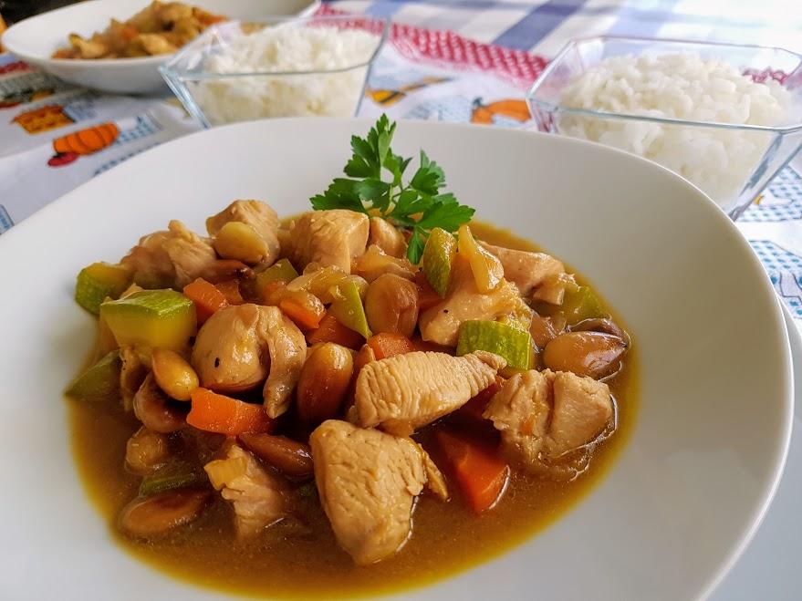 Pollo con almendras estilo chino la cocina de pedro y - Pollo con almendras facil ...