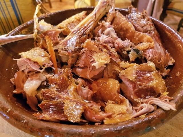 menú castellano lechazo y sopa castellana