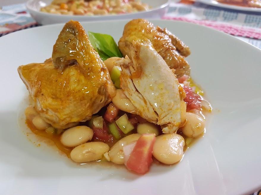 Ensalada de alubias la cocina de pedro y yolanda - Alubias con codornices ...
