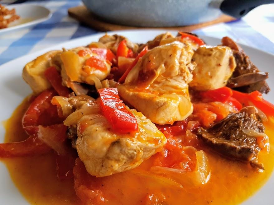 Pollo al chilindr n la cocina de pedro y yolanda for Cocina de pedro y yolanda