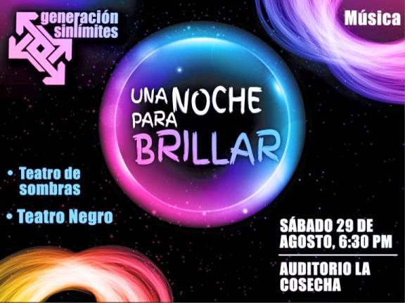 """Teatro: """"Noche Para Brillar"""" - 29 de Agosto - 6:30 P.M."""