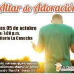 Altar de adoración setiembre 2015