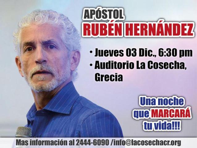 Apóstol Rubén Hernández  | 03 Diciembre - 6:30 PM