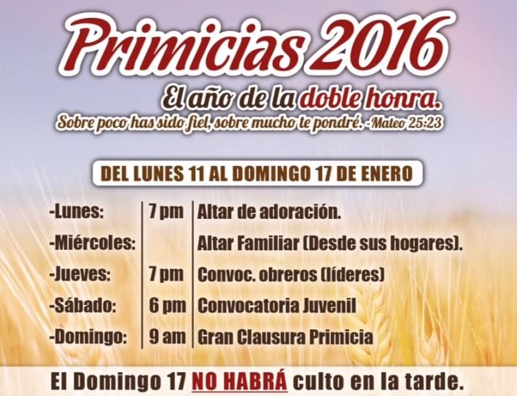 Primicias 2016 - Comunidad Cristiana La Cosecha, Grecia