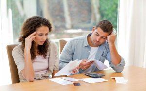 Matrimonio y finanzas. Preocupación.