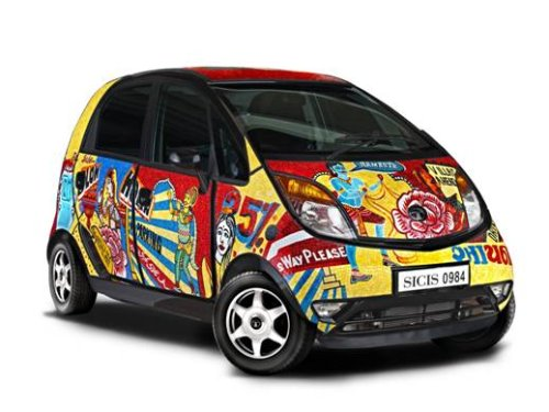Tata Nano Turned into Art by SICIS