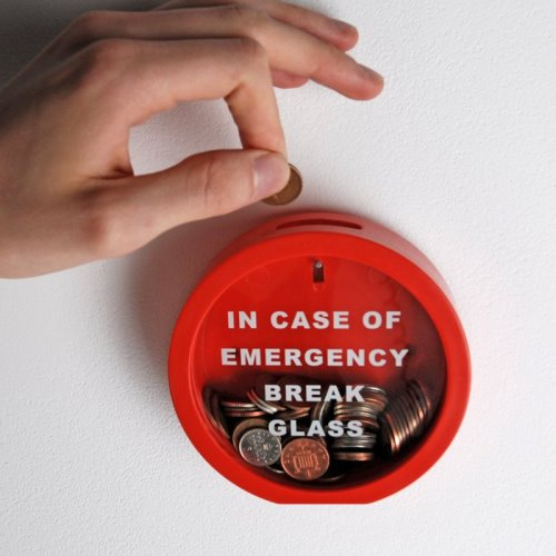 The Emergency Break Glass Money Box