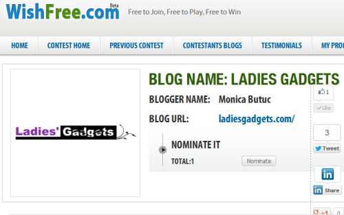 We're Open for Nominations at WishFree Tech Blog Awards 2012!