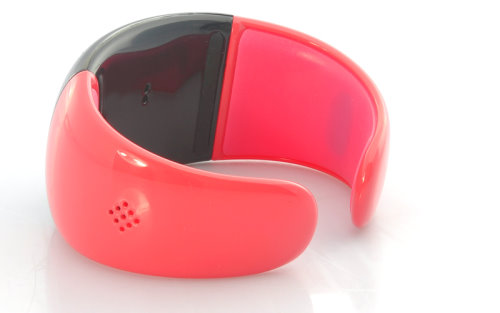 Red Bluetooth Bracelet With Many Functions