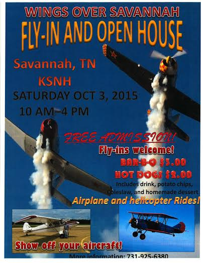 Wings Over Savannah Tennessee Fly-in, October 3, 2015
