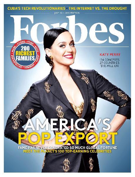 Katy Perry è la cantante più pagata al mondo secondo Forbes