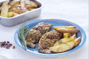 Ricette di pesce: pesce spada in crosta di pistacchi