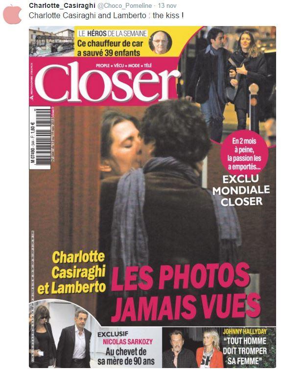 Charlotte Casiraghi, Lamberto Sanfelice: baci a prova di copertina