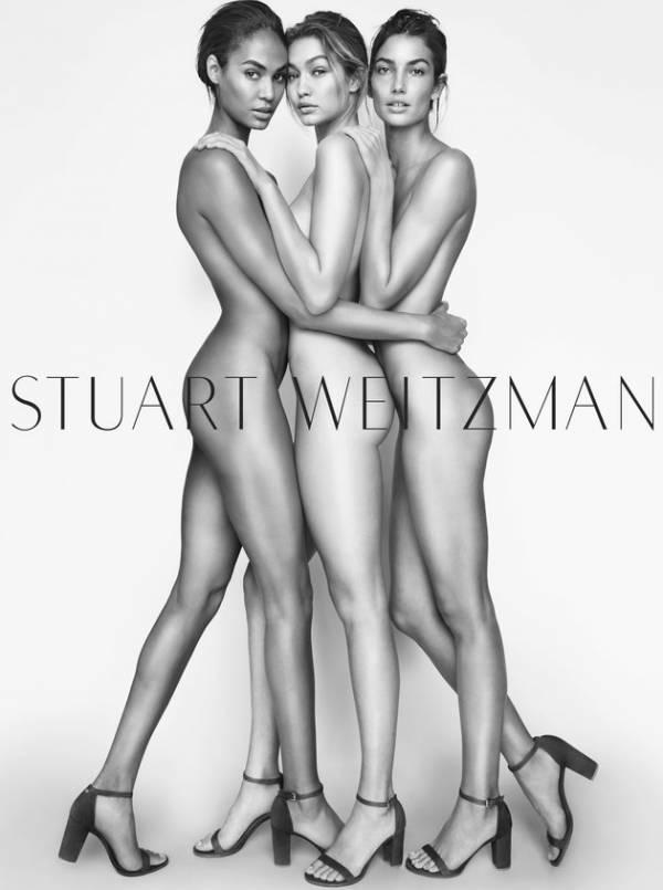 Gigi Hadid senza veli per Stuart Weitzman FOTO
