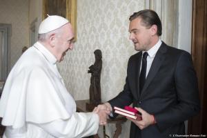 Leonardo DiCaprio da Papa Francesco FOTO incontro 2