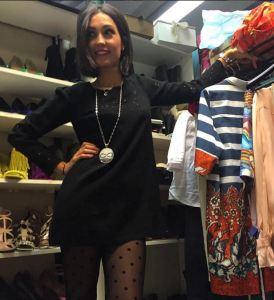 Caterina Balivo trendy col collant pois FOTO