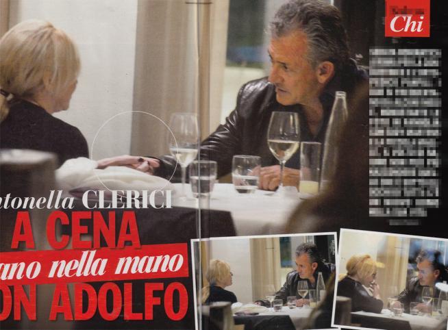 Antonella Clerici e Adolfo Panfili: cena romantica a Roma