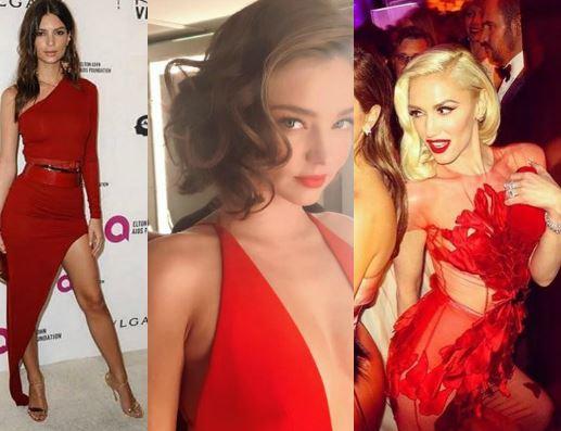 Emily Ratajkowski, Miranda Kerr, Gwen Stefani: rosso che passione FOTO