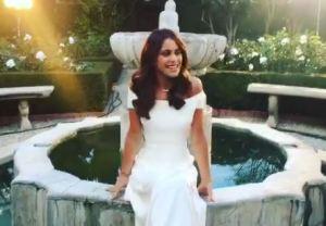 Martina Stoessel (Violetta) prove da sposa: abito bianco FOTO/VIDEO