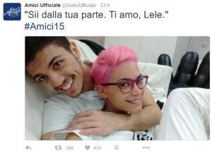 Elodie Di Patrizi, dichiarazione d'amore di Lele Esposito