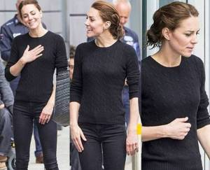 Kate Middleton casual: skinny aderenti e sneakers FOTO