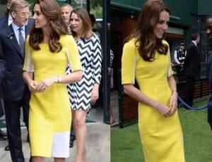 Kate Middleton, tubino giallo glamour a Wimbledon FOTO
