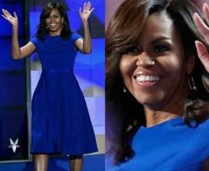 Michelle Obama, perfetta in abito blu elettrico FOTO