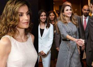 Letizia Ortiz, Rania di Giordania: sfida di eleganza FOTO