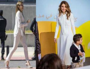 Letizia Ortiz, Rania di Giordania: incantevoli in total white FOTO