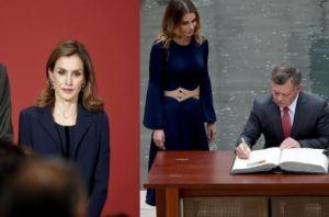 Letizia Ortiz come Rania di Giordania: chic in blu FOTO