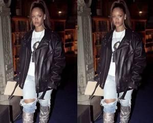 Rihanna è la prima ad indossare gli stivali Saint Laurent che abbiamo adorato FOTO