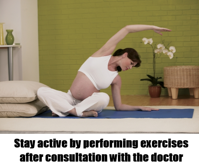 Performing pregnancy exercises