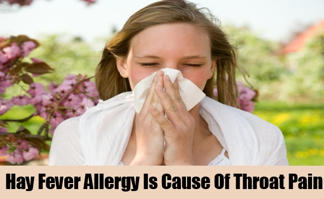 Hay Fever Allergy Is Cause Of Throat Pain
