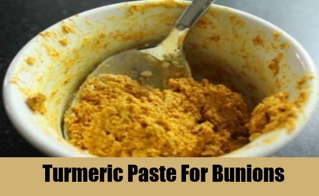 Turmeric Paste For Bunions
