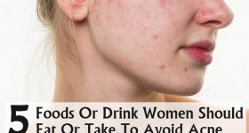 Foods Or Drink Women Should Eat Or Take To Avoid Acne