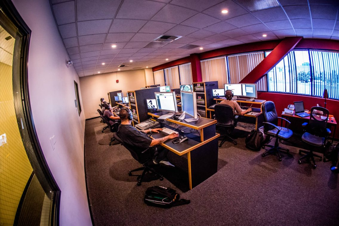 This lab is where students complete the Avid 210P coursework in the Pro Tools Certified Operator curriculum using Pro Tools HD systems running on Apple computers. Students study the art and science of sound design, dialogue editing, and other techniques common to postproduction for feature films, television programs and video games.