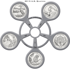 2015 America The Beautiful Coin Carousel