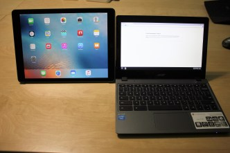iPad Pro vs Samsung Chromebook: Size Comparison