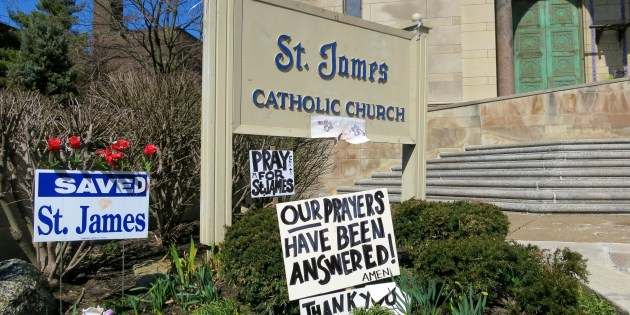 Signs of Support at St. James