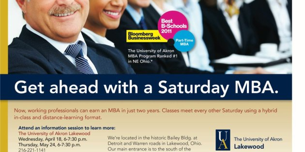 Saturday MBA Offered at University of Akron Lakewood