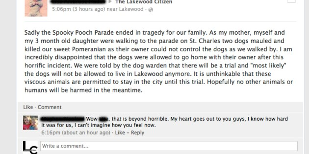 Dog Mauled to Death Before Spooky Pooch Parade – Lakewood, OH Patch