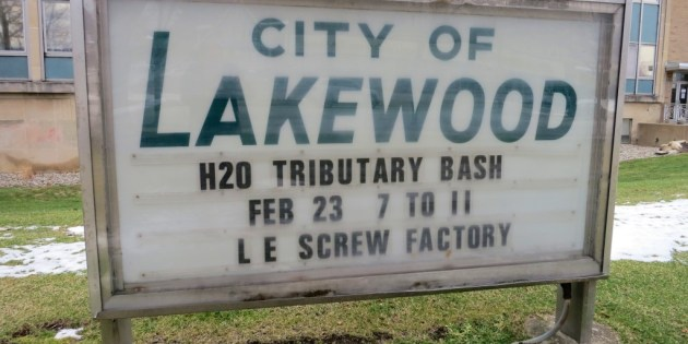City of Lakewood H2O Tributary Bash at Screw Factory Feb. 23rd